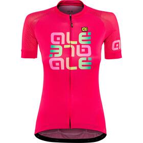 Alé Cycling Solid Mirror Kortermede Sykkeltrøyer Dame rød/Fargerik